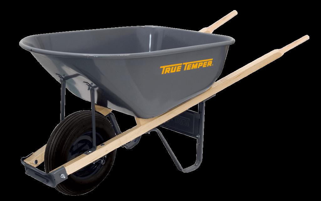 6 Cubic Foot Steel Wheelbarrow | True Temper® Tools