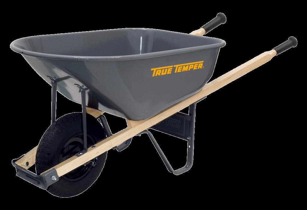 6 Cubic Foot Steel Wheelbarrow With Never Flat Tire True