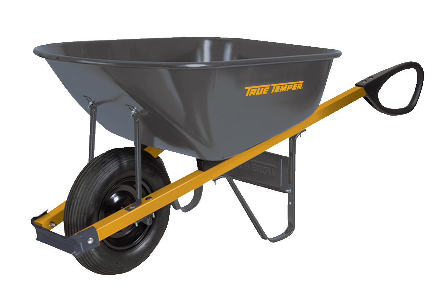 Total Control 6 Cubic Foot Steel Wheelbarrow With Total