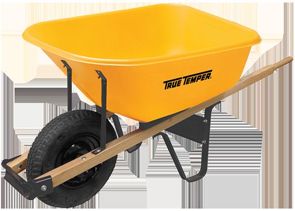 6 Cubic Foot Poly Wheelbarrow | True Temper® Tools