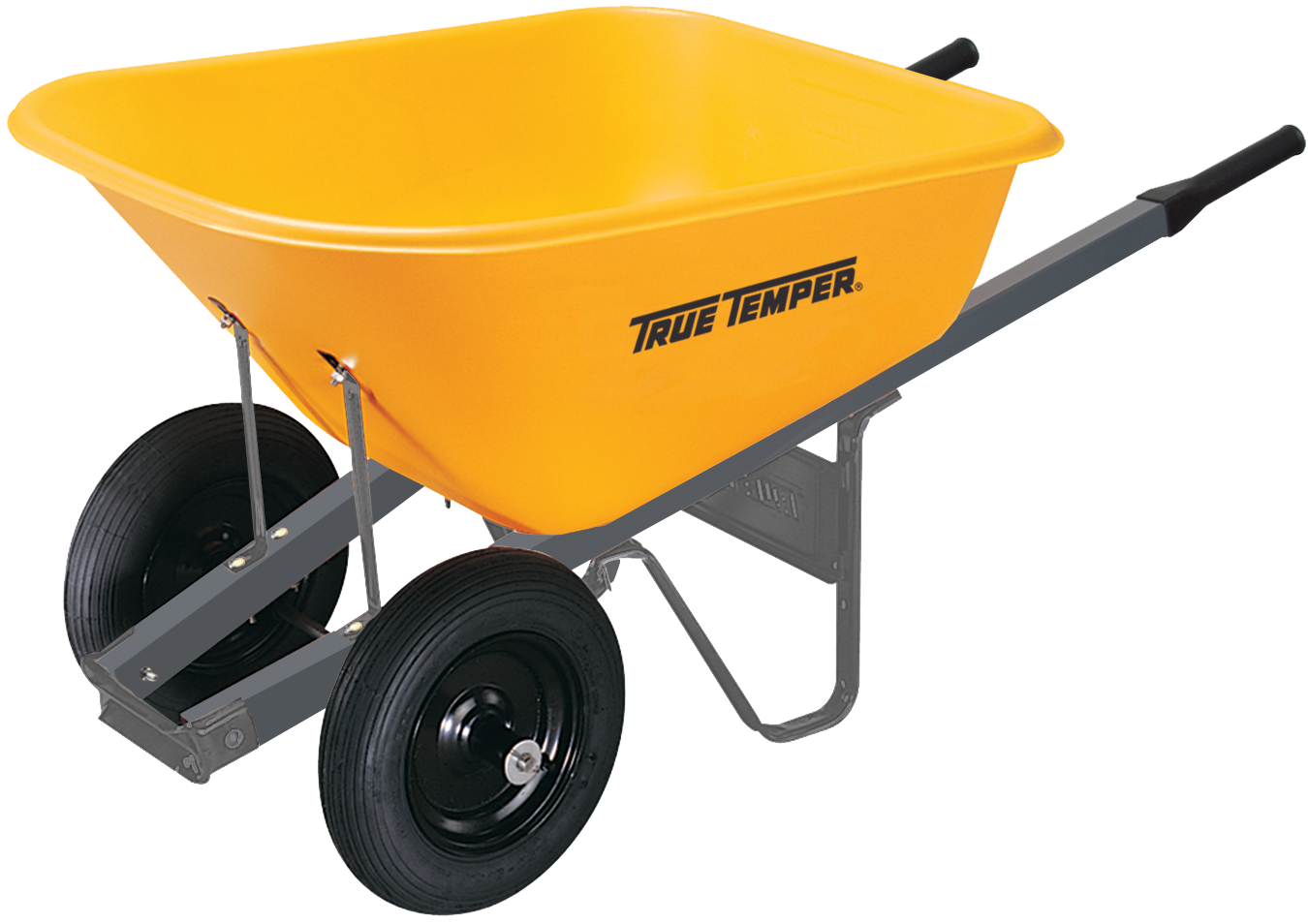 Homedepot 11 6 Cubic Foot Poly Wheelbarrow With Dual Wheels True