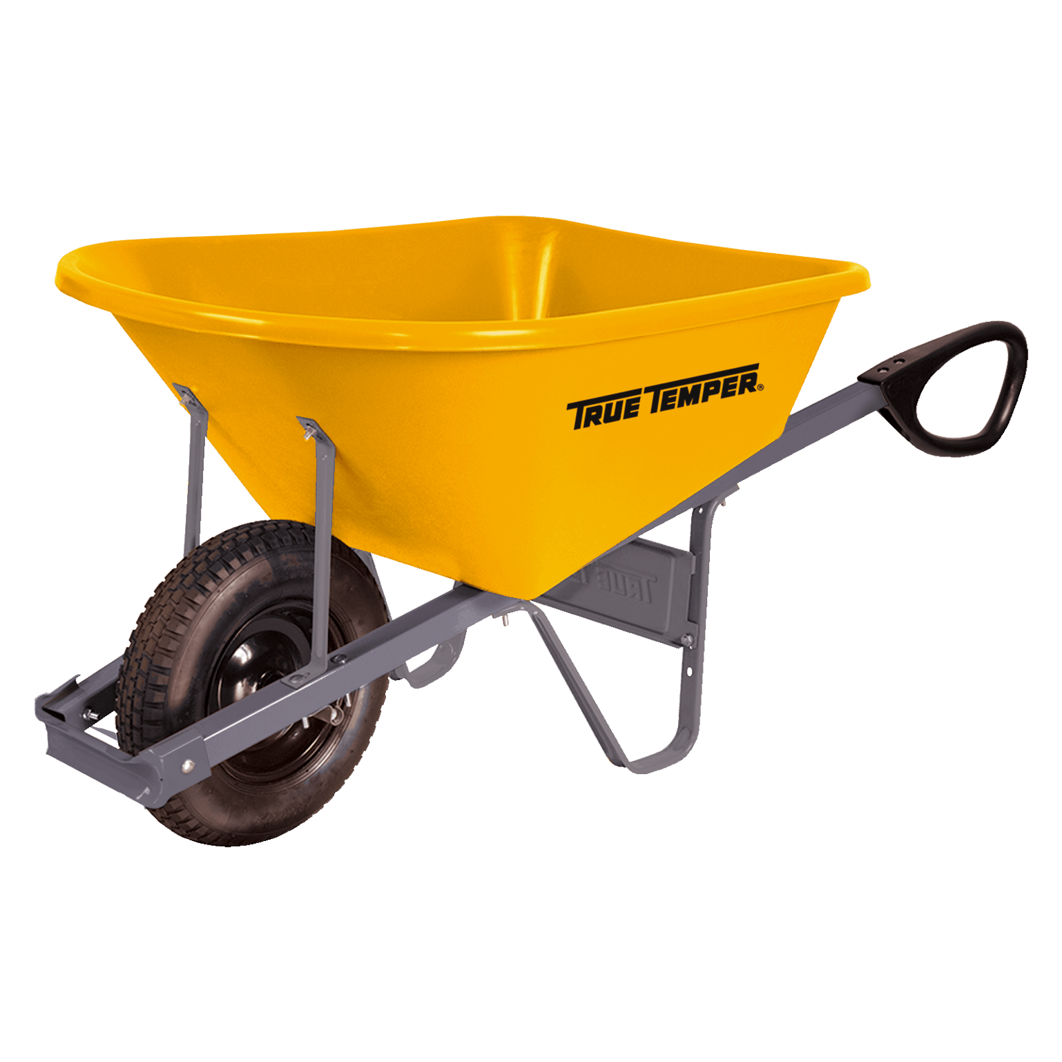 Total Control 6 Cubic Foot Poly Wheelbarrow With Total