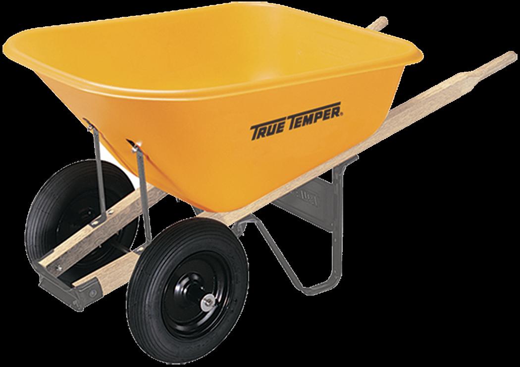 8 Cubic Foot Poly Wheelbarrow With Dual Wheels True Temper Tools