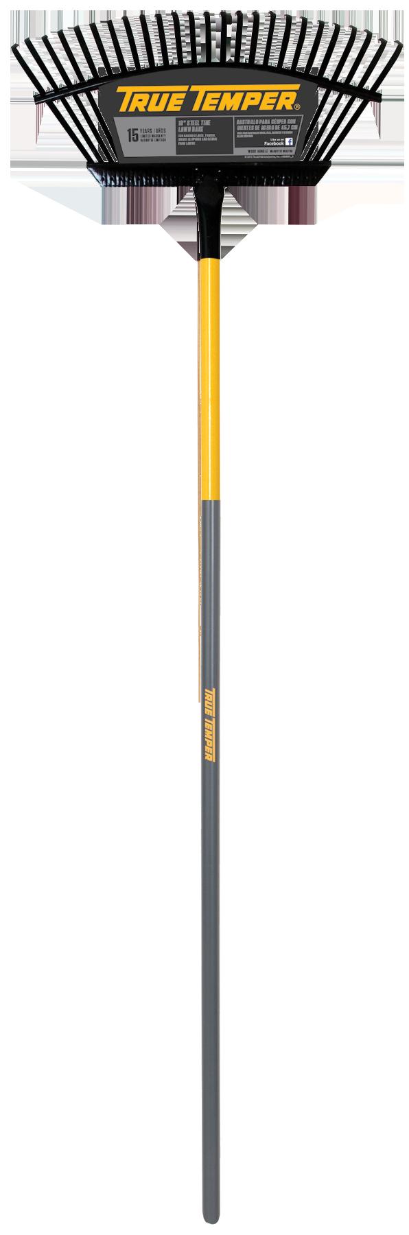 18 Inch Steel Tine Lawn Rake True Temper 174 Tools
